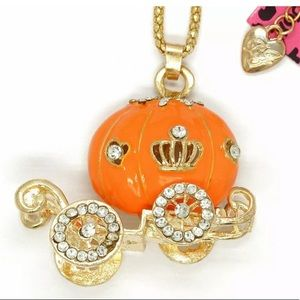 Betsey Johnson~ Cinderella's Carriage Necklace